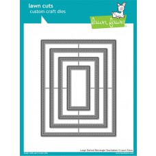Lawn Fawn - Large Dotted Rectangle Stackables - Cuts