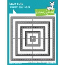 Lawn Fawn - Large Dotted Square Stackables - Cuts