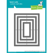 Lawn Fawn - Large Cross-Stitched Rectangle Stackables Die