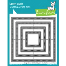 Lawn Fawn - Large Cross-Stitched Square Stackables Die