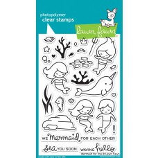 Lawn Fawn - Mermaid For You Clear Stamp
