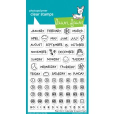 Lawn Fawn - Plan On It: Calendar Clear Stamp