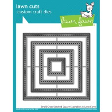 Lawn Fawn - Small Cross-Stitched Square Stackables Die
