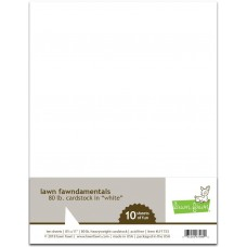 Lawn Fawn - 80lb. Cardstock weiss