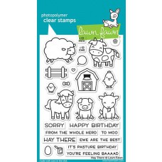 Lawn Fawn - Hay There - Clear Stamps 4x6