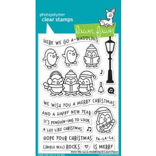 Lawn Fawn - Here We Go A-Waddling - Clear Stamps 4x6