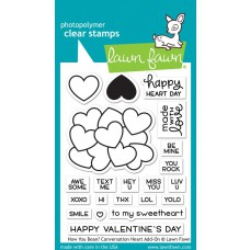 Lawn Fawn - How You Been? Conversation Heart Add-On - Clear Stamps 3x4