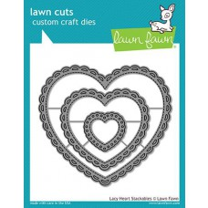 Lawn Fawn - Lacy Heart Stackables - Stanze