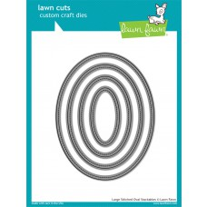 Lawn Fawn - Lawn Cuts - Large Stitched Ovals