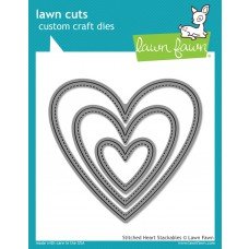 Lawn Fawn - Lawn Cuts - Stitched Heart Stackables