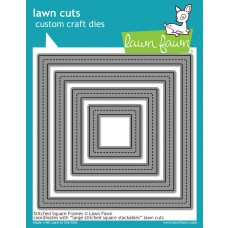Lawn Fawn - Lawn Cuts - Stitched Square Frames