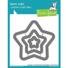 Lawn Fawn - Outside in Stitched Star Stackables - Stanze