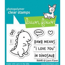Lawn Fawn - RAWR - Clear Stamps 2x3