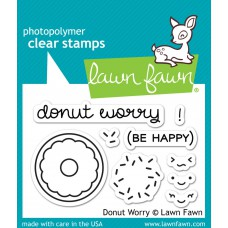 "Lawn Fawn - Stempelset 2x3"" - Donut Worry"