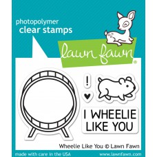 Lawn Fawn - Stempelset 2x3 - Wheelie Like You