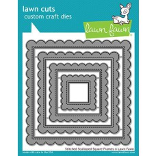 Lawn Fawn - Stitched Scalloped Square Frames - Stanzen