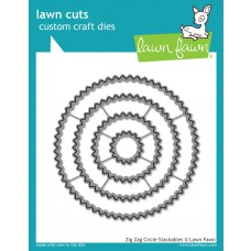 Lawn Fawn - Zig Zag Circle Stackables - Stanzen