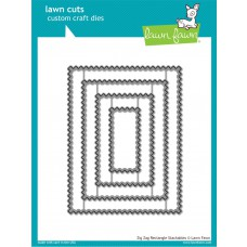 Lawn Fawn - Zig Zag Rectangle Stackables - Stanze