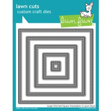 Lawn Fawn - Lawn Cuts - Large Stitched Square Stackables