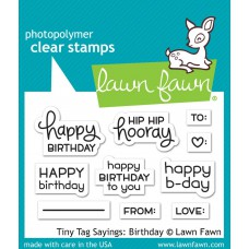 Lawn Fawn - Tiny Tag Sayings: Birthday - Clear Stamp 3x4