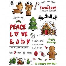 LDRS Creative - Clear Photopolymer Stamps - Candy Cane Lane - 6x8