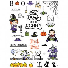 LDRS Creative - Clear Photopolymer Stamps - Happy Haunting - 6x8
