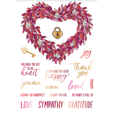 LDRS Creative - Clear Stamps -  Heart Wreath