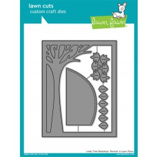 Lawn Fawn - Leafy Tree Backdrop: Portrait - Cuts