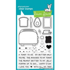 Lawn Fawn - Let's Toast - Clear Stamps 4x6