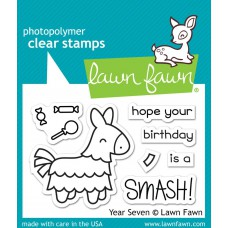 Lawn Fawn - Year Seven - Clear Stamp 2x3