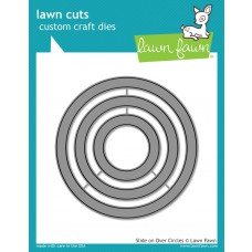Lawn Fawn - Slide On Over Circles - Stanzen