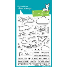Lawn Fawn - Plane And Simple - Clear Stamp 4x6