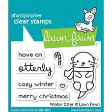 Lawn Fawn - Winter Otter - Clear Stamps 2x3
