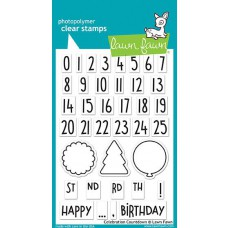 Lawn Fawn - Celebration Countdown - Clear Stamps 4x6