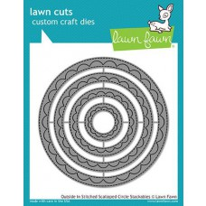 Lawn Fawn - Outside In Stitched Scalloped Circle Stackables - Stanze