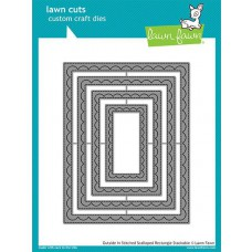 Lawn Fawn - Outside In Stitched Scalloped rectangle Stackables - Stanze