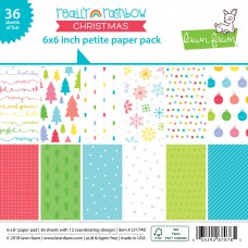 Lawn Fawn - Petite Paper Pack 6x6 - Really Rainbow Christmas