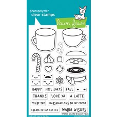 Lawn Fawn - Thanks A Latte - Clear Stamps 4x6