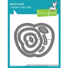 Lawn Fawn - Outside In Stitched Apple Stackable - Stanzen
