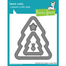Lawn Fawn - Stitched Christmas Tree Frames - Stanzen