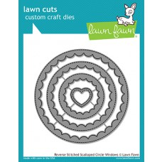 Lawn Fawn - Reverse Stitched Scalloped Circle Windows - Stanzen