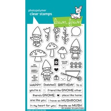 Lawn Fawn - Oh Gnome! - Clear Stamp 4x6