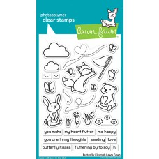 Lawn Fawn - Butterfly Kisses - Clear Stamp 4x6