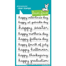 Lawn Fawn - Celebration Scripty Sentiments - Clear Stamp 4x6