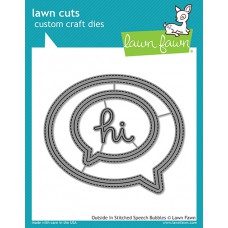Lawn Fawn - Outside In Stitched Speech Bubble - Stanze