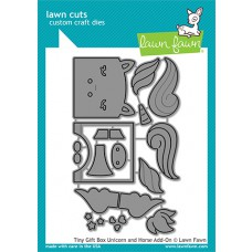 Lawn Fawn - tiny gift box unicorn and horse add-on - Stanzen