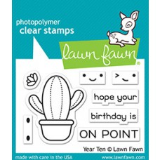 Lawn Fawn - year ten - Clear Stamp 2x3