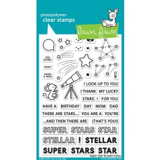 Lawn Fawn - super star - Clear Stamp 4x6