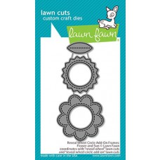 Lawn Fawn - reveal wheel circle add-on frames: flower and sun - Stanzen