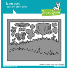 Lawn Fawn - meadow backdrop: landscape - Stanzen